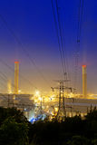 Power station at night Stock Image
