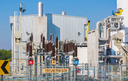Power station , Out door substation yard Royalty Free Stock Photo