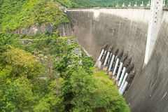 The power station at the Phumibol Dam in Thailand Royalty Free Stock Photos