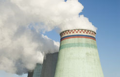 Power station plant in Moscow Royalty Free Stock Image