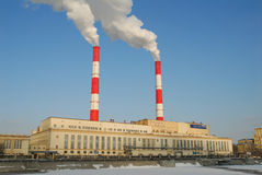 Power station plant in Moscow Stock Photo
