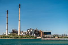 Power Station in Port Adelaide. On a day, Torrens Island, South Australia stock photo