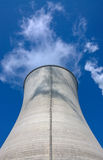Power station's cooling tower Royalty Free Stock Images