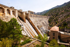 Power station on Segre river Royalty Free Stock Images