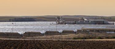 Power station of solar parabolic energy Royalty Free Stock Image