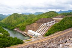 The power station at the Srinakarin Dam Royalty Free Stock Photos