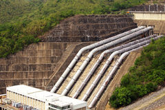 The power station at the Srinakarin Dam. In Thailand Royalty Free Stock Photo
