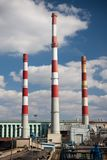 Power station on sunny day Stock Photography