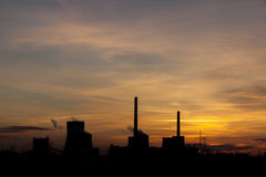 Power station - sunrise Royalty Free Stock Image