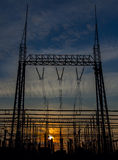 Power station on a sunset background Stock Image