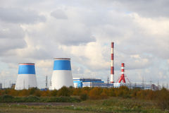 Power station. And tube in the city Saint-Petersburg, Russia. This picture was taken on October 01, 2014 Royalty Free Stock Image