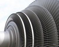 POWER STATION TURBINE. CLOSE-UP OF AN OLD PERSON POWER STATION TURBINE WITH 3 METERS OF DIAMETERS royalty free stock photography
