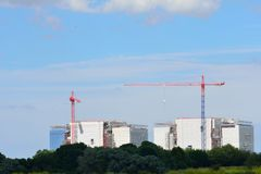 Power station under construction. Large Power station under construction Stock Images