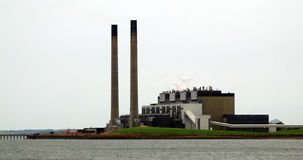 Power Station by water Stock Images