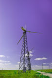 Power station - wind turbine against the blue Stock Photos