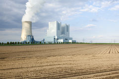 Power Stations And Field Stock Image