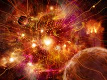 Power streams of universe Stock Image