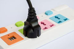 The power strip . Royalty Free Stock Images