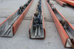 Power Strip on conveyor line assembly. Power Strip on conveyor line assembly royalty free stock image