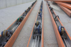 Power Strip on conveyor line assembly. Power Strip on conveyor line assembly royalty free stock photos