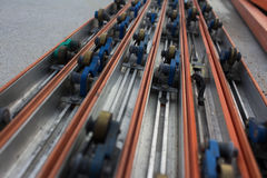 Power Strip on conveyor line assembly. Power Strip on conveyor line assembly stock images