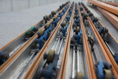 Power Strip on conveyor line assembly. Power Strip on conveyor line assembly stock photography