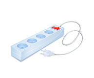 Power Strip Icon with Cord and Plug Royalty Free Stock Photos