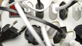 Power strip plethora stock footage