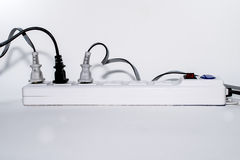 The power strip with  plug Royalty Free Stock Images