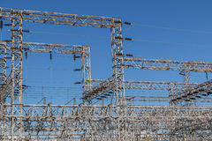 Power structure. Power sub station Stock Photos