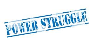 Power struggle blue stamp. On white background Stock Photo