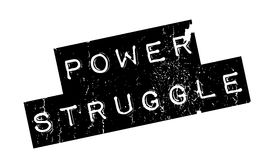 Power Struggle rubber stamp Stock Photo