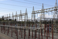 Power sub station Royalty Free Stock Photo
