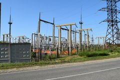 Power substation Royalty Free Stock Images