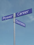 Power, Success And Career Directions Royalty Free Stock Images