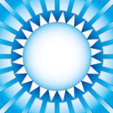 Power of  the sun. By arrows Royalty Free Stock Photo