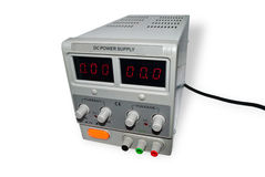 Power supply. On a white background Royalty Free Stock Image