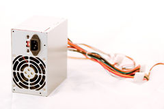 Power Supply. Computer Power supply on white Stock Photos