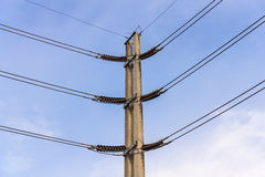 Power supply. With blue sky background Stock Image