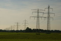 Power supply chain - upper austria Royalty Free Stock Photo