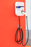 Power supply for charging an electric car Stock Images