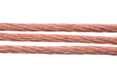 Power supply copper wire Stock Images
