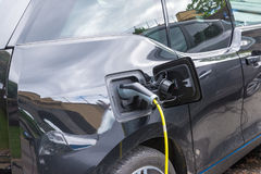 Power supply for electric car charging. Electric car charging st Stock Image