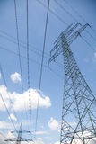Power supply lines Royalty Free Stock Photo