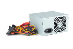 Power Supply. Of PC  with clipping path on white background Stock Images
