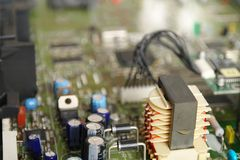 Power supply in a satellite decoder Stock Photography