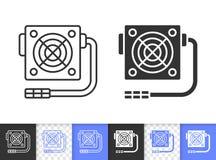 Power Supply simple black line vector icon vector illustration