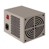 Power supply unit icon in cartoon style isolated on white background. Personal computer accessories symbol stock vector Stock Images