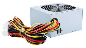 The power supply unit of personal computer Stock Images