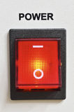 Power switch. Big detailed red power switch royalty free stock photos